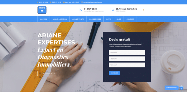 Projet: www.ariane-expertise.com